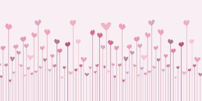 bannière de la Saint-Valentin avec un design abstrait de coeurs