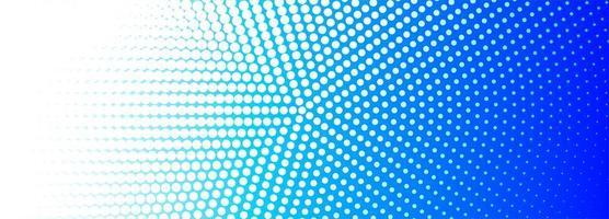 Bannière circulaire en pointillé bleu et blanc