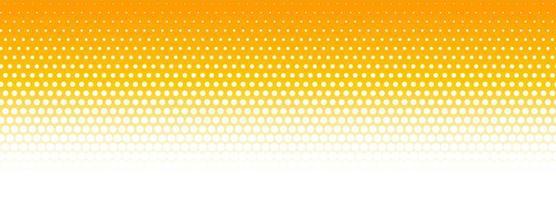 Bannière de motif de demi-teintes orange et blanc