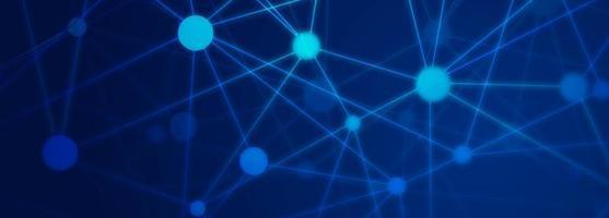 Bannière de technologie abstraite fond bleu