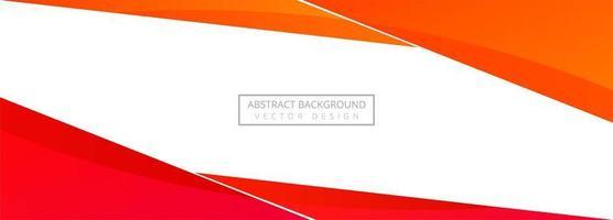 Bannière d'angle rouge moderne sur fond blanc