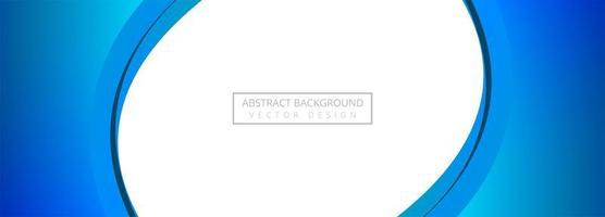 Fond de bannière abstraite créative vague bleue vecteur