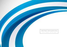 Fond de vague d'affaires élégant bleu courbe vecteur
