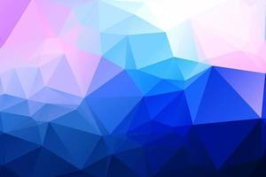 Fond polygonale géométrique rose et bleu vecteur