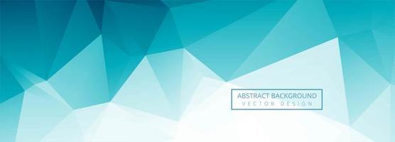 Conception de bannière de polygone bleu abstrait