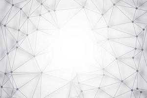 Fond de technologie de polygone avec fond central vecteur