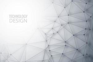 Fond de technologie de polygone avec fond de gauche vecteur