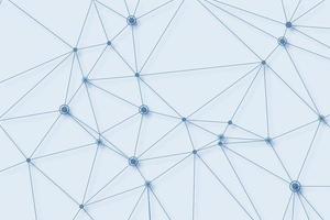 Connexion de polygone de technologie numérique fond bleu