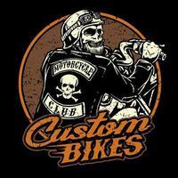 moto équitation squelette vecteur