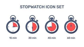 Icônes de chronomètre vecteur