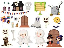 Un élément d'Halloween sur fond blanc