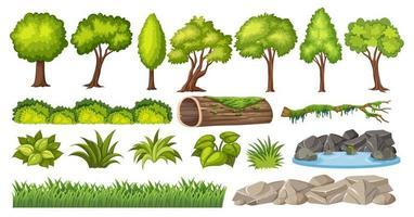 Ensemble d'élément nature pour la décoration vecteur