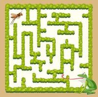 Une grenouille trouver sauterelle vecteur
