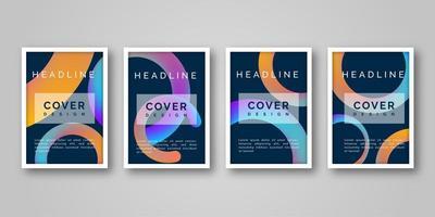 Conception de couverture géométrique colorée