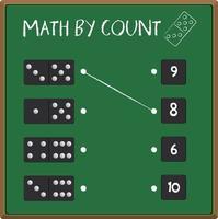Feuille de calcul du numéro de domino vecteur