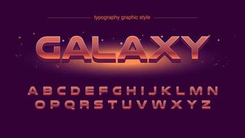 Typographie rouge futuriste