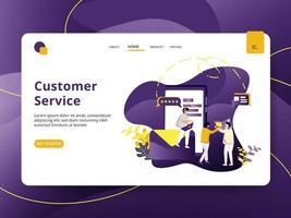 Page d'accueil Service client vecteur