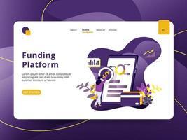 Page de financement Plateforme de financement vecteur