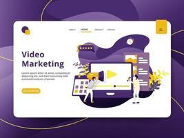Page d'accueil Marketing vidéo vecteur