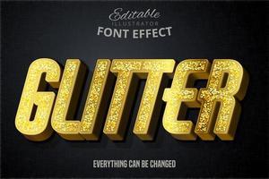 Effet de police de typographie modifiable de script de paillettes modernes vecteur