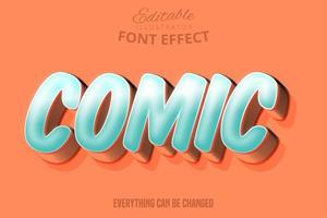 Effet de police de typographie modifiable de script comique moderne vecteur