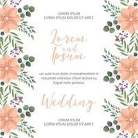 carte de mariage fleur