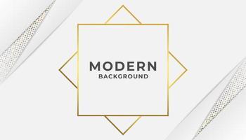 Fond blanc abstrait minimal moderne avec de l'or vecteur