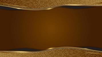 Papier peint de conception de luxe de formes géométriques abstraites d'or