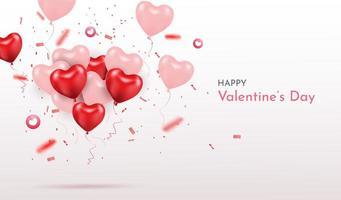 Fond de boîte cadeau joyeux Saint Valentin blanc vecteur