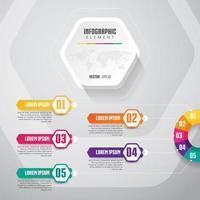 Conception d'infographie de chronologie avec 5 options