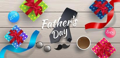 Bannière ou fond de fête des pères heureux vecteur