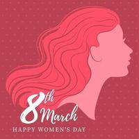 Carte de voeux de vacances Happy Women Day vecteur