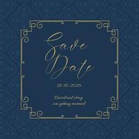 Économisez élégant la conception d'invitation de date vecteur