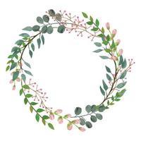 Couronne de feuilles sauvages florales modernes vecteur