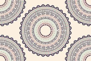 Modèle sans couture d'ornement cercle aztèque ethnique