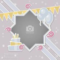 Couverture de l'album Scrapbook cadre photo fête d'anniversaire