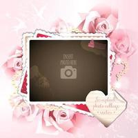 amour durable album scrapbook collage cadre photo unique vecteur