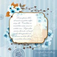 Collage de scrapbooking d'écriture créative avec des fleurs de jardin d'été en fleurs vecteur