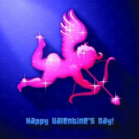 Archer Cupidon Saint Valentin vecteur