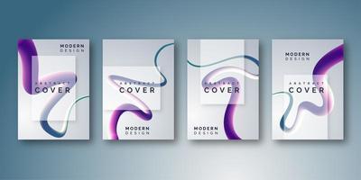 Design élégant de couverture de ligne fluide dégradé