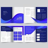 Modèle de brochure d'entreprise bleu vecteur