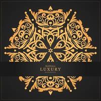 Bannière et mandala de luxe en or