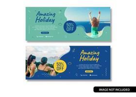 Bannière de voyage vacances vacances vacances