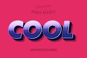 Cool Cooly Outline texte, style de texte modifiable vecteur