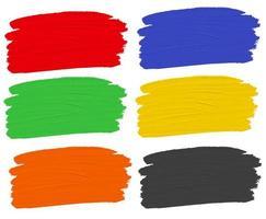 Ensemble de couleurs de peinture vecteur