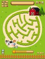 Un modèle de jeu de société Farmland vecteur
