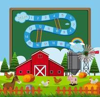 Un modèle de jeu de grange vecteur