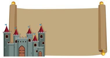 Château sur papier vintage vecteur