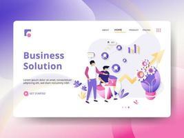 Page de destination de la solution d'entreprise vecteur