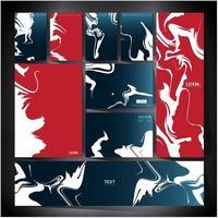 Conception de cartes de couverture en marbre numérique pour votre entreprise